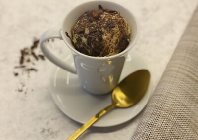 Mug cake met chocolade